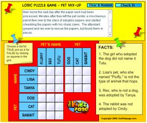 Logic Grid Puzzle Free Online Logic Puzzles