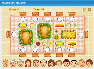 Thanksgiving Dinner Game for Kids