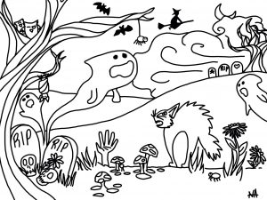 free coloring sheets fall craft ideas halloween