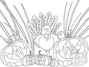 free coloring sheets fall craft ideas Thanksgiving