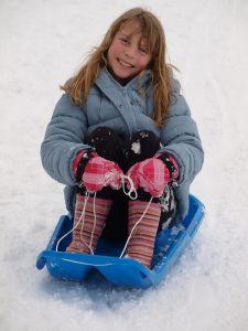 Ways to Keep Your Kids Active in the Winter sled