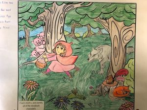 free fairytale coloring page colored 2