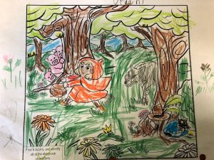 free fairytale coloring page colored 5