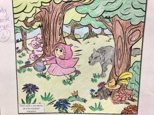 free fairytale coloring page colored 6